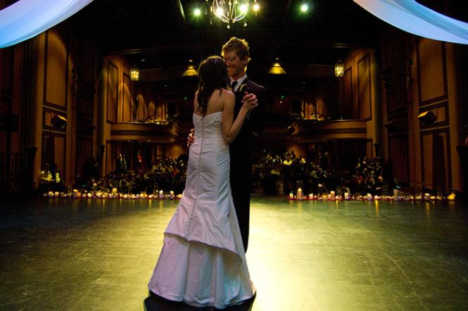 Wedding dance on stage