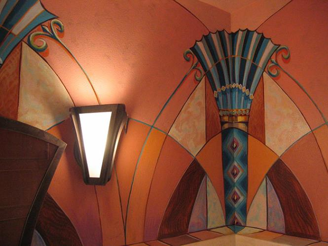Art Deco mural by David Kinker