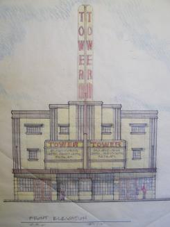 Early sketch of Tower remodel plan
