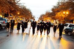 Wedding party on Wall Street