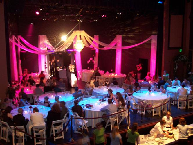 Wedding reception on stage